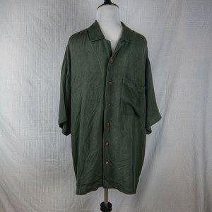 Tommy Bahama Hualalai 100% Silk Shirt Size Large